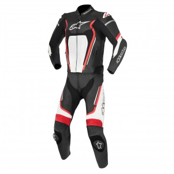 Leather Motorcycle Suits Alpinestars Motegi V2 2PC Black Red White