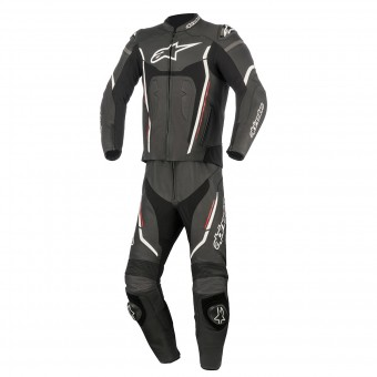Leather Motorcycle Suits Alpinestars Motegi V2 2PC Black White Red