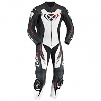 Leather Motorcycle Suits Ixon Starbust 2.0 Black White Red