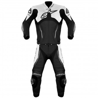 Leather Motorcycle Suits Alpinestars Atem Suit 2PC Black White