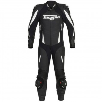 Leather Motorcycle Suits Furygan Dark Apex Black White