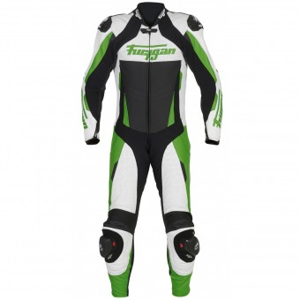 Leather Motorcycle Suits Furygan Full Apex White Green Black