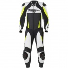 Leather Motorcycle Suits Furygan Full Apex White Yellow Fluo Black