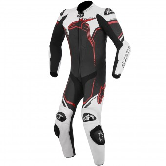 Leather Motorcycle Suits Alpinestars GP Plus Leather Suit Black White Red