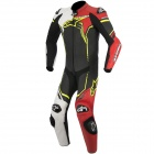 Leather Motorcycle Suits Alpinestars GP Plus Leather Suit Black White Red Yellow Fluo