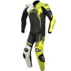 Leather Motorcycle Suits Alpinestars GP Plus Leather Suit Black White Yellow Fluo