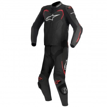 Leather Motorcycle Suits Alpinestars GP PRO 2PC Black Red
