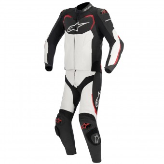 Leather Motorcycle Suits Alpinestars GP PRO 2PC Black White Red