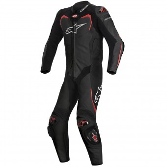 Leather Motorcycle Suits Alpinestars GP PRO Tech Air Bag Compatible Black Red