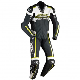 Leather Motorcycle Suits Ixon Mirage Black White Bright Yellow