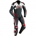 Leather Motorcycle Suits Ixon Mirage Black White Bright Red