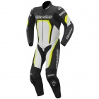 Leather Motorcycle Suits Alpinestars Motegi Suit Black Yellow Fluo