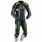 Leather Motorcycle Suits Ixon Pulsar Air Black White Bright Green
