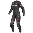 Leather Motorcycle Suits Dainese Racing P. Lady Black Anthracite Fuchsia
