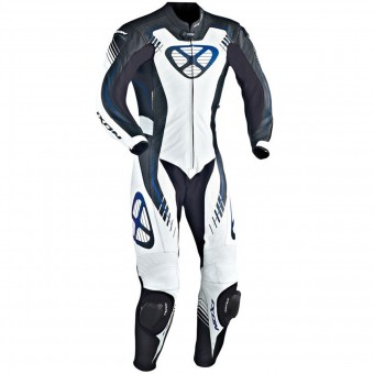 Leather Motorcycle Suits Ixon Starbust Black White Blue