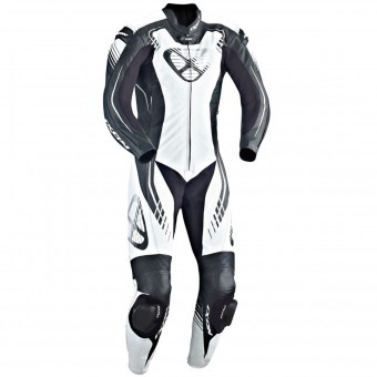 Leather Motorcycle Suits Ixon Starbust Black White Silver