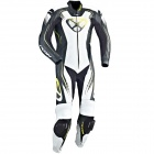 Leather Motorcycle Suits Ixon Starbust Black White Yellow