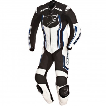 Leather Motorcycle Suits Bering Supra-R Black White Blue