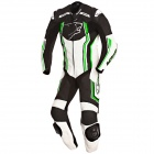 Leather Motorcycle Suits Bering Supra-R Black White Green