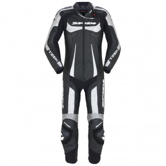Leather Motorcycle Suits Spidi T-2 Kangaroo Wind Pro Black Silver