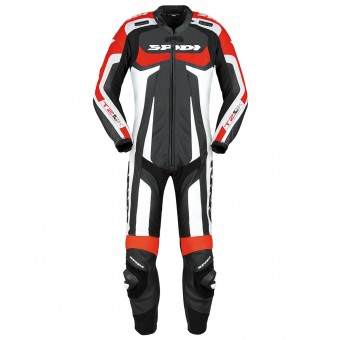 Leather Motorcycle Suits Spidi T-2 Kangaroo Wind Pro Black Red
