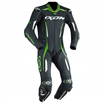 Leather Motorcycle Suits Ixon Vortex EPI Black White Green