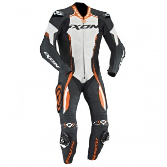 Leather Motorcycle Suits Ixon Vortex EPI Black White Orange