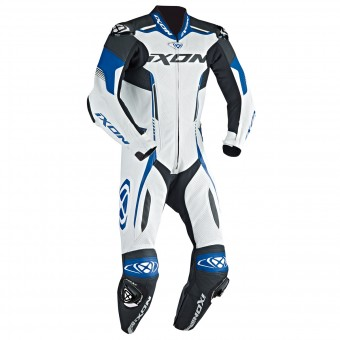 Leather Motorcycle Suits Ixon Vortex EPI White Blue