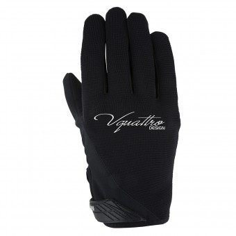 Motorcycle Gloves V'Quattro District Lady Black