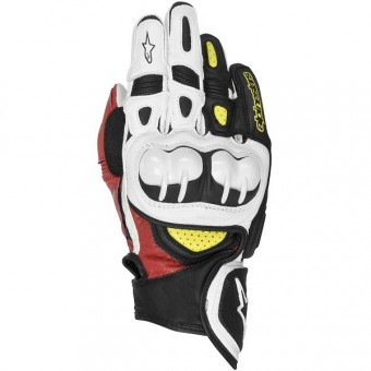 Motorcycle Gloves Alpinestars GP X Black Red Yellow Fluo