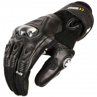 Motorcycle Gloves V'Quattro SP-02 Black