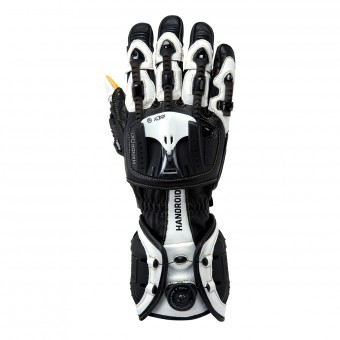 Motorcycle Gloves Knox Handroid MKIII Black White