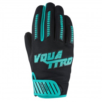 Motorcycle Gloves V'Quattro MX17 Lady Turquoise