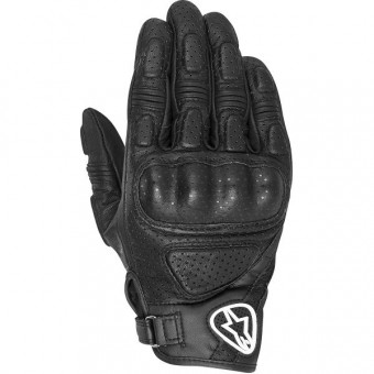Motorcycle Gloves Alpinestars Mustang Black