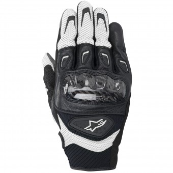 Motorcycle Gloves Alpinestars SMX-2 Air Carbon Black White