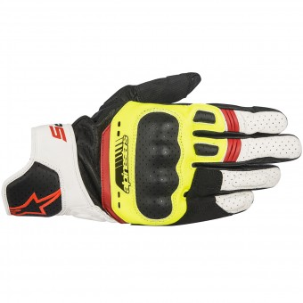 Motorcycle Gloves Alpinestars SP-5 Black Yellow Red Fluo