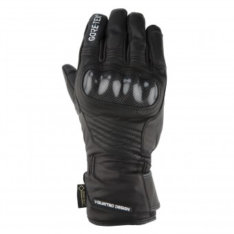 Motorcycle Gloves V'Quattro Virage Evo 17 Gore-Tex Black