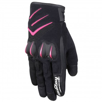 Motorcycle Gloves Furygan Delta Lady Black Fuchsia
