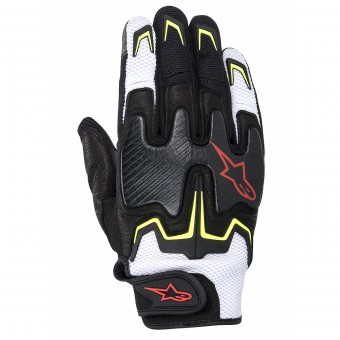 Motorcycle Gloves Alpinestars Fighter Air Black Yellow Red