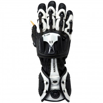 Motorcycle Gloves Knox Handroid Black White
