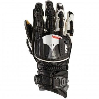Motorcycle Gloves Knox Handroid Pod Black White