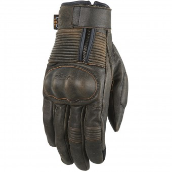 Motorcycle Gloves Furygan James Rusted D3O Brown