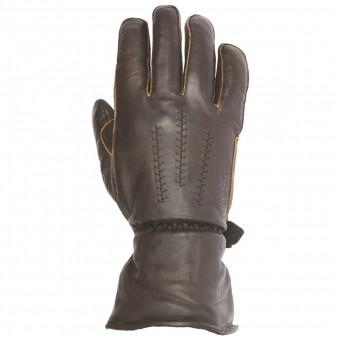 Motorcycle Gloves Helstons Jeff Leather Brown