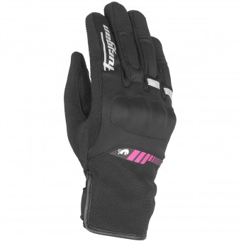 Motorcycle Gloves Furygan Jet Lady All Season Black Pink