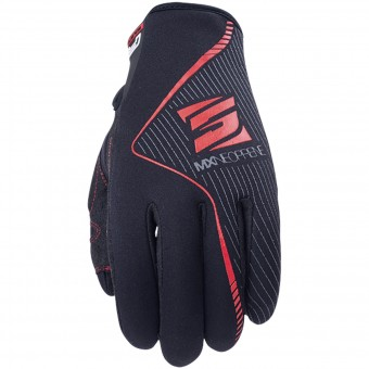Motorcycle Gloves Five MX Neoprene Black