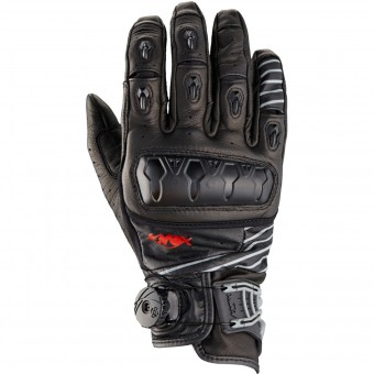 Motorcycle Gloves Knox Orsa Leather Black