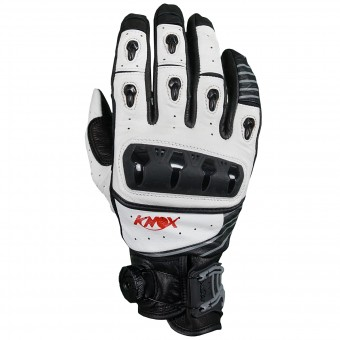 Motorcycle Gloves Knox Orsa Leather White