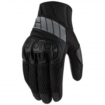 Motorcycle Gloves ICON Overlord Mesh Stealth