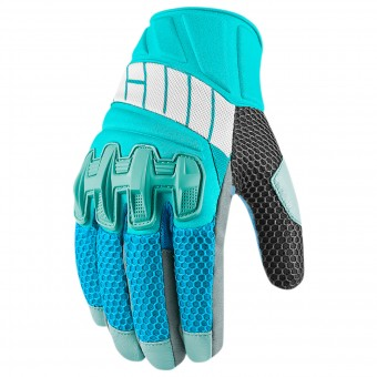 Motorcycle Gloves ICON Overlord Mesh Women Blue