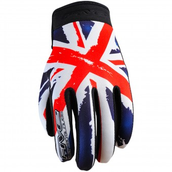 Motorcycle Gloves Five Planet Patriot Kid England
